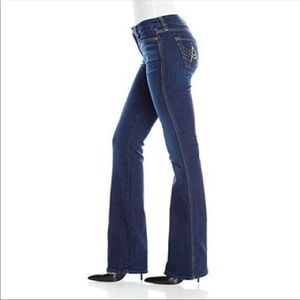 7 For All Mankind A Pocket Dark Flare Jeans